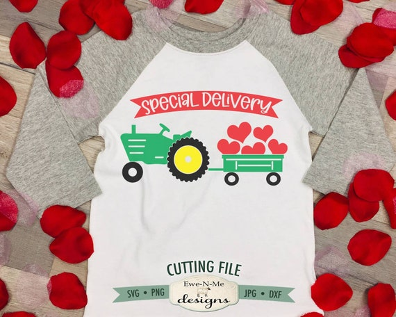 Valentine Tractor svg - Special Delivery SVG