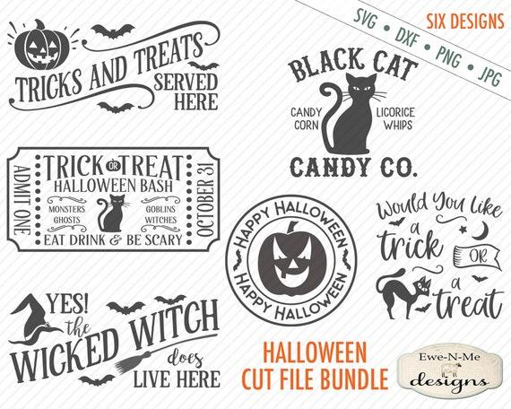Halloween SVG  - Halloween SVG Bundle - jack o lantern svg - witch svg - trick or treat SVG - Commercial Use svg, dxf, png and jpg files