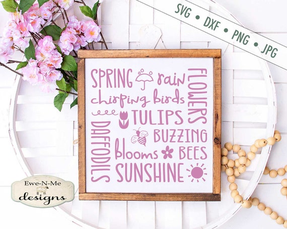 Spring SVG - Tulips SVG - Spring Subway SVG - Buzzing Bees svg - Daffodils svg