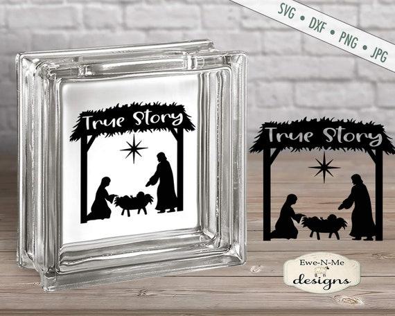 True Story svg - Nativity svg - Manger svg  - Baby Jesus svg - Christmas SVG - Commercial Use svg, dxf, png, jpg