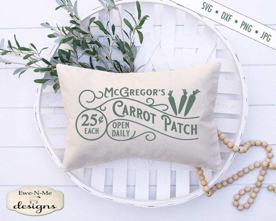 Easter SVG - McGregors Carrot Patch svg - Carrot svg