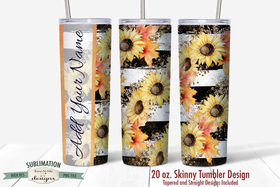Seamless Sunflower Tumbler Sublimation Design
