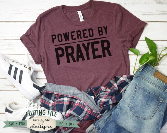 Powered By Prayer SVG - Prayer SVG