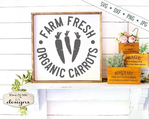 Easter SVG - Carrots svg - Organic Carrots svg - Farm SVG