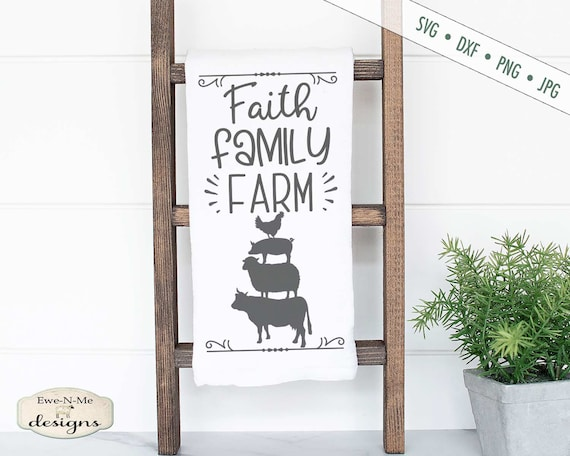 Faith Family Farm SVG - Farm Animals SVG