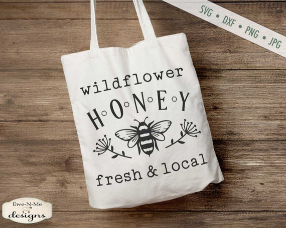 Wildflower Honey - Bee SVG