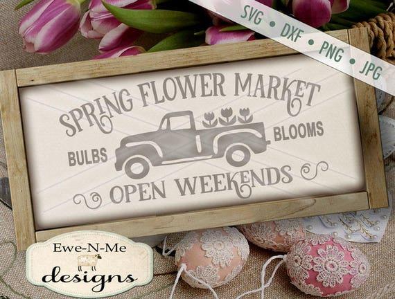 Spring Flower Market Truck - SVG