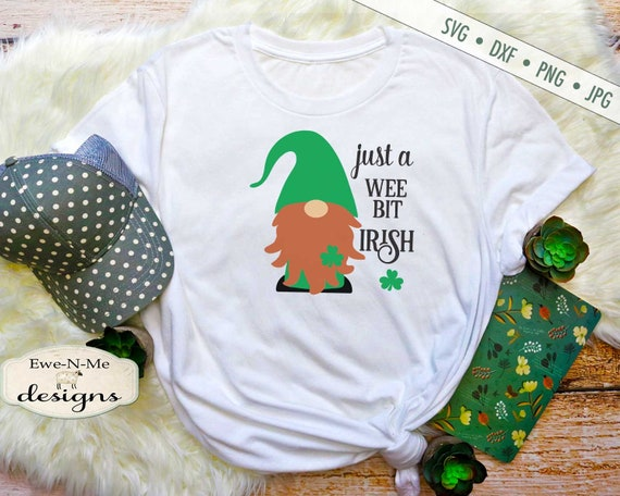 St. Patricks Gnome SVG - Wee Bit Irish - SVG or Sublimation
