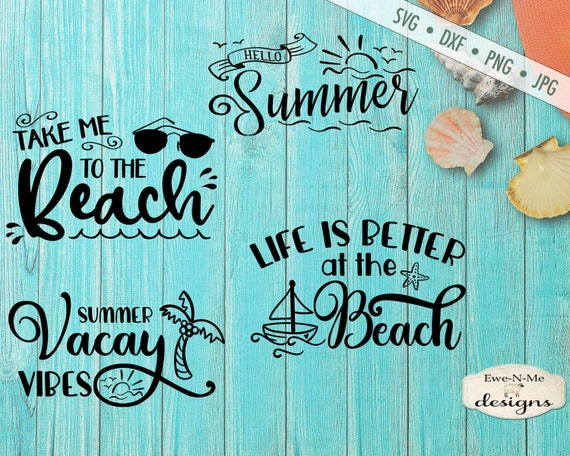 Summer SVG Bundle - vacation svg - Beach svg - vacay vibes svg - Summer SVG - Summer Break svg - Commercial use svg bundle