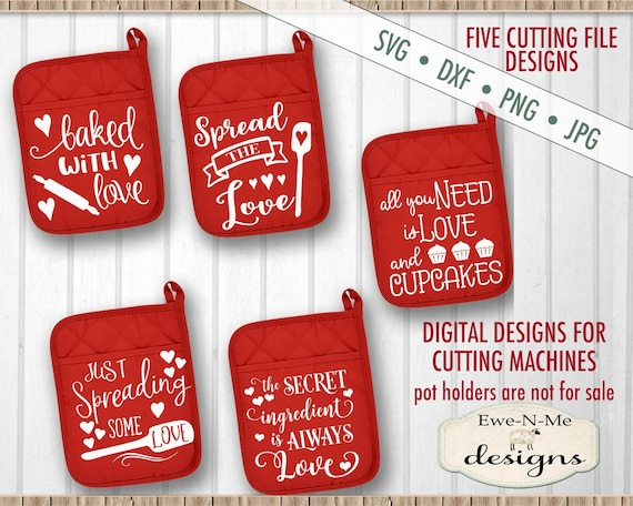 Pot Holder svg bundle - Love Valentine - SVG Files