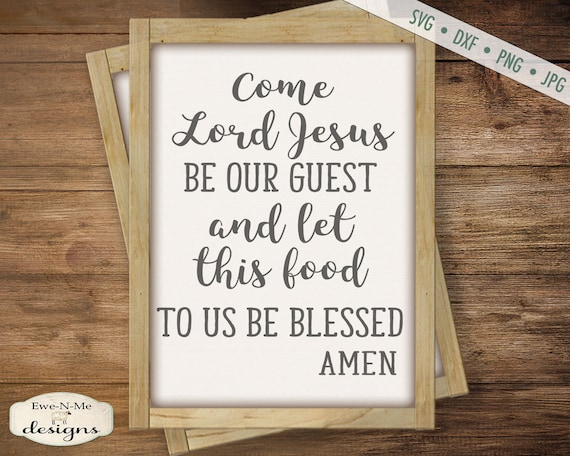 Table Prayer - Food Be Blessed svg