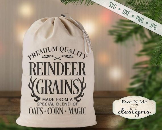 Christmas SVG - Reindeer svg - Reindeer Grains svg - Feedsack SVG - Commercial Use svg, dxf, png and jpg