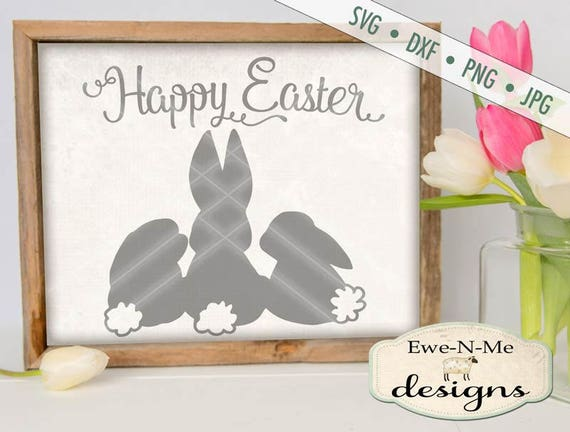 Easter SVG - Easter Bunny svg - Happy Easter SVG - bunny silhouette svg - bunnies svg - Commercial Use svg, dxf, png, jpg