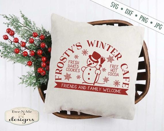 Christmas SVG - Snowman svg - Frosty's Cafe SVG - Snowflake svg - Winter svg - Frosty SVG - Commercial Use svg, dxf, png and jpg