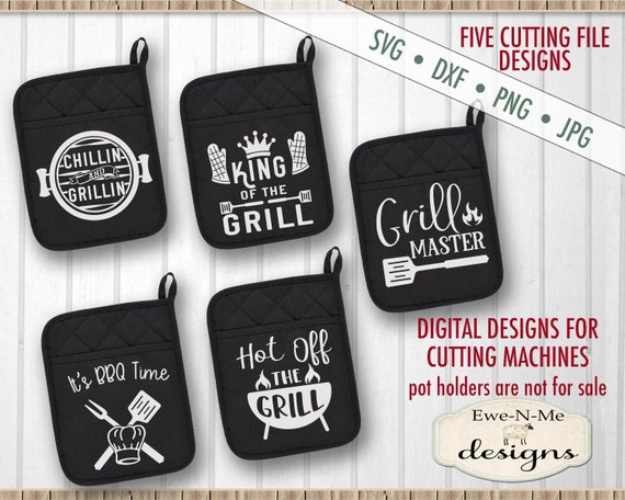 Grilling BBQ SVG Bundle - Pot Holder SVG Designs