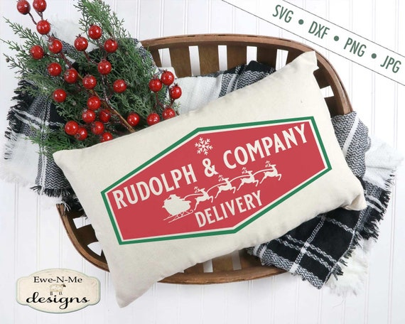 Christmas svg - Rudolph SVG - Santas Sleigh SVG - Rudolph delivery svg - Christmas SVG File - Commercial Use svg, dxf, png and jpg files