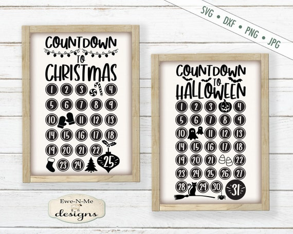 Countdown to Christmas - Countdown to Halloween SVG
