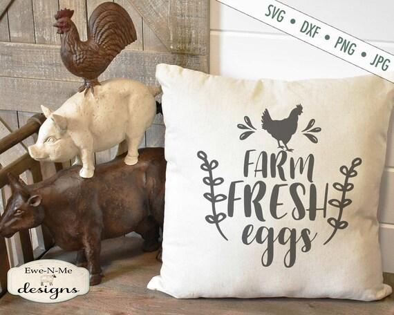Farm Fresh Eggs SVG - Chicken SVG