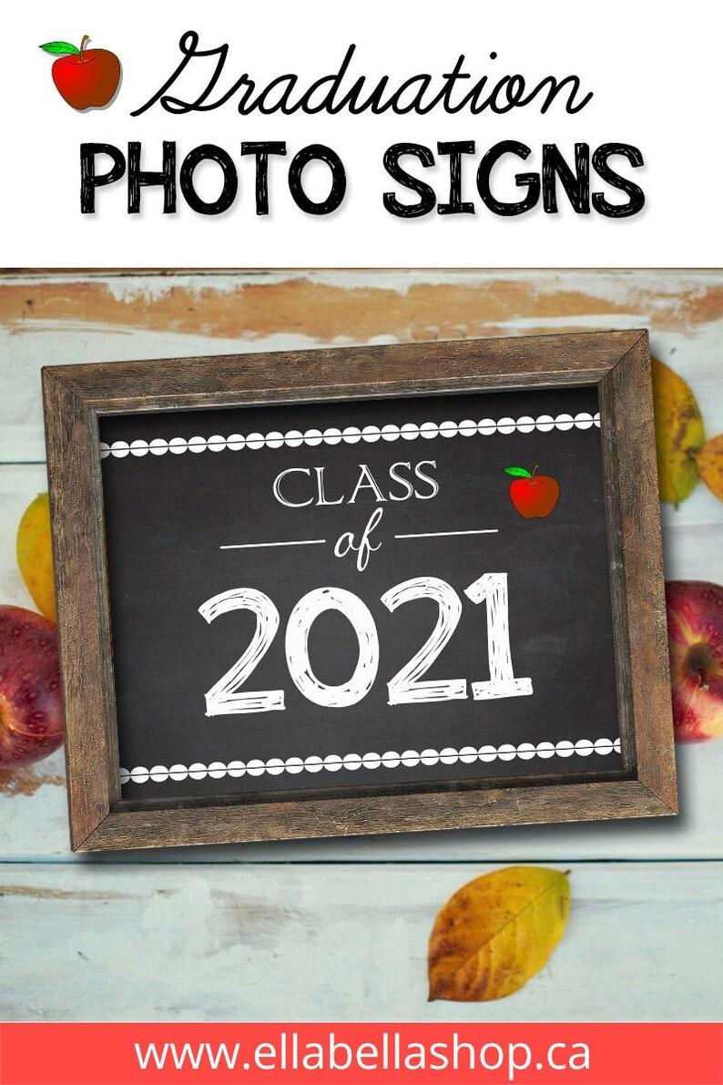 Graduating CLASS OF 2021 Chalkboard Sign PRINTABLE  2021 image 0
