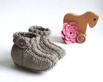 Baby Braided Ankle Bootie Knitting Pattern