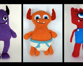 Hungry Monsters Project Knitting Pattern