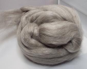 Yak Silk Merino, brown, Tibetan Yak roving, 2 ounce, Yak fibers, spinning fiber, spindle spinning, spinning, roving, top, threadsthrutime