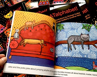 CAT Alphabet Children's Book  CATalphabet!  Picture Book Homeschooling