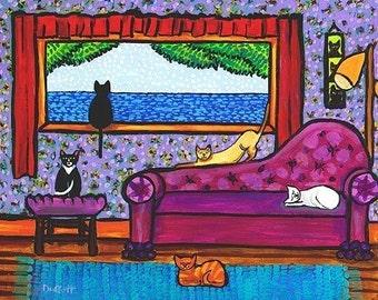 6 Cat Saturday -  Print Shelagh Duffett