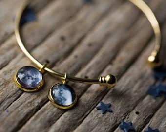 Custom Birth Moon Charm Bracelet - Multiple Moon Dates - Gift for Mother's Day, Anniversary, Birthday, Christmas, BFF - Custom Moon Bracelet