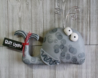 BuTT UgLee WhaLe named WiLdeR, Marine AniMal, Freakin Adorable nursery decor, OOAK Sea Life art, quirky gift for divers and ocean lovers