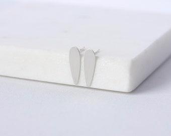 Minimalist Small Silver Spike Studs