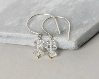 Sterling Silver Herkimer Diamond Dangle Earrings