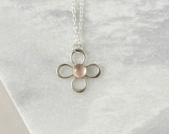 Rose Quartz Petal Necklace