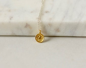Small Gold Disc Layering Necklace
