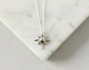 Sterling Silver North Star Polaris Necklace