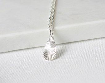 Minimalist Sterling Silver Teardrop Necklace