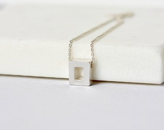Minimalist Sterling Silver Geometric Layering Necklace