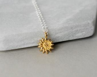 Gold Vermeil Flower Necklace