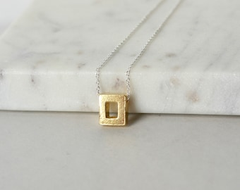 Minimalist Sterling Silver Geometric Necklace