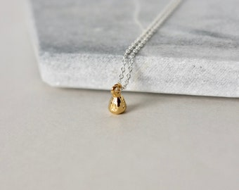 Tiny Gold Teardrop Necklace
