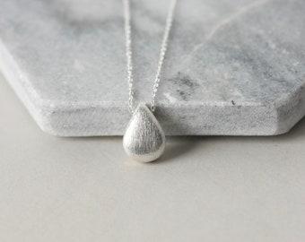 Sterling Silver Teardrop Pendant Necklace