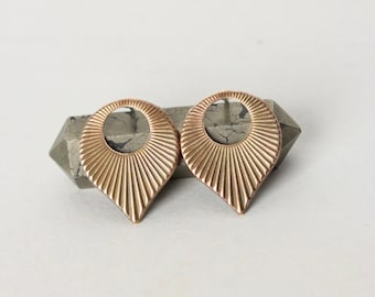 Brass Starburst Stud Earrings