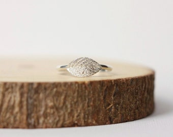 Sterling Silver Leaf Stacking Ring