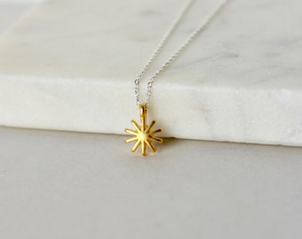 Dainty Gold Star Celestial Necklace