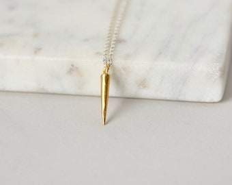 Minimalist Gold Spike Necklace