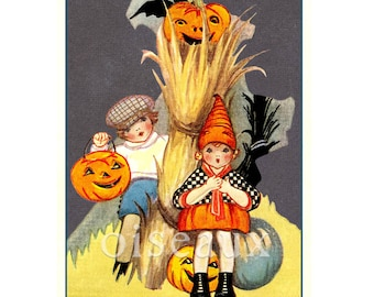 Trick or Treat Bookplates - Vintage Halloween Book Labels - Gorgeous Personalized Gift, Ex Libris, Unique Spooky Book Plates