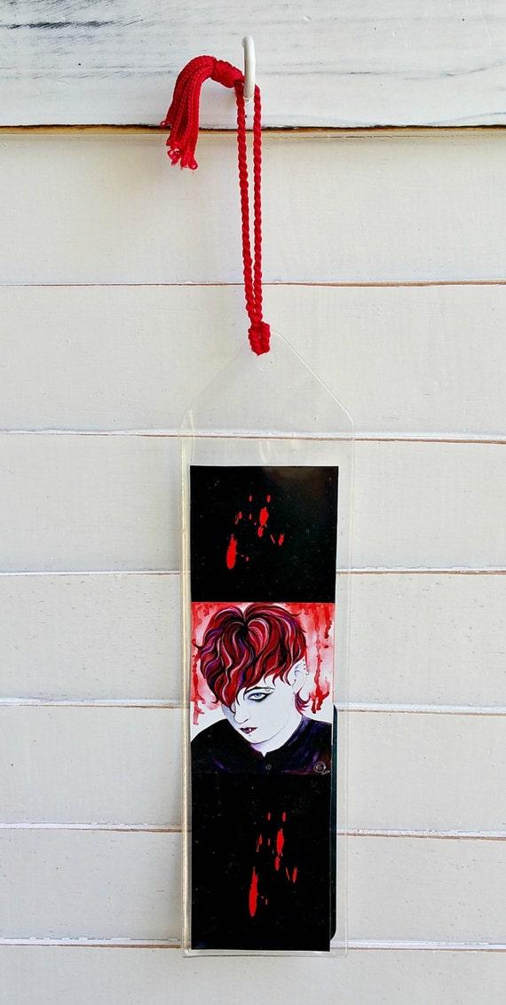 Vampire Art Bookmark Emo Reader Gifts Reading Book Lover | Etsy