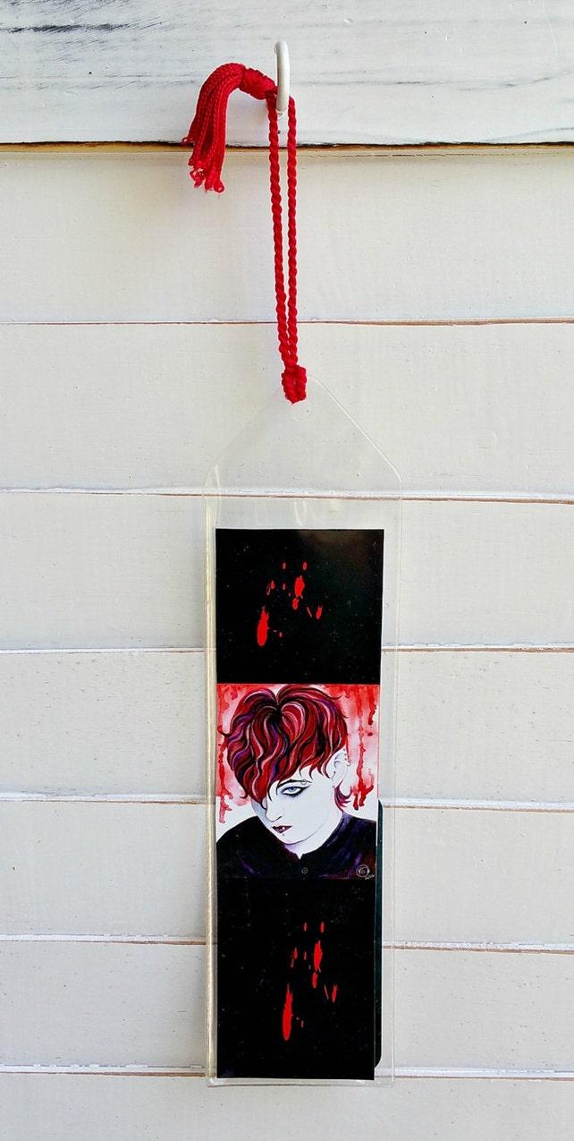 Vampire Art Bookmark Emo Reader Gifts Reading Book Lover   Etsy