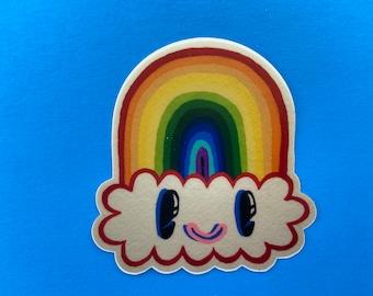 Rainbow Cloud buddy stickers