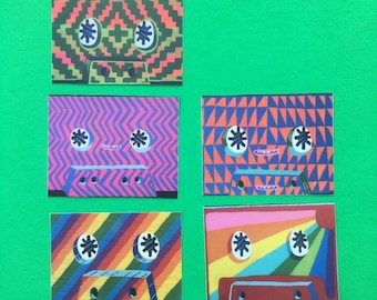 5 pack cassette tape stickers